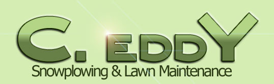 C. Eddy Snowplowing & Lawn Maintenance Logo